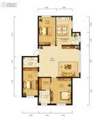 学府经典3室2厅2卫0平方米户型图
