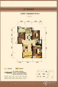 中建长清湖3室2厅1卫109平方米户型图