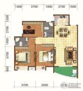 山水绿洲3室2厅2卫113平方米户型图