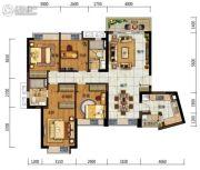 中海左岸岚庭4室2厅2卫123平方米户型图