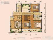 奥克斯缔壹城3室2厅2卫138平方米户型图