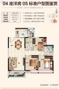 恒福曦园2期・天曦3室2厅2卫105平方米户型图