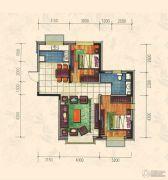 力旺康城2室2厅1卫87平方米户型图