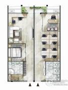 海西・未来区2室2厅2卫77平方米户型图