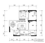 宝嘉花与山1室2厅1卫47平方米户型图