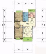 康锦馨苑3室2厅1卫100--140平方米户型图