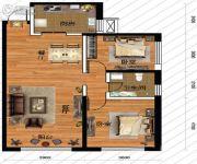 鹏博金城珑园2室2厅1卫94平方米户型图