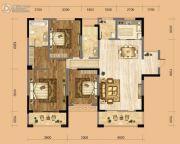 中南一号院3室2厅2卫133平方米户型图
