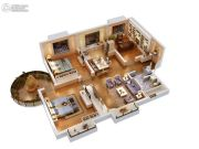 双威理想城3室2厅1卫119平方米户型图