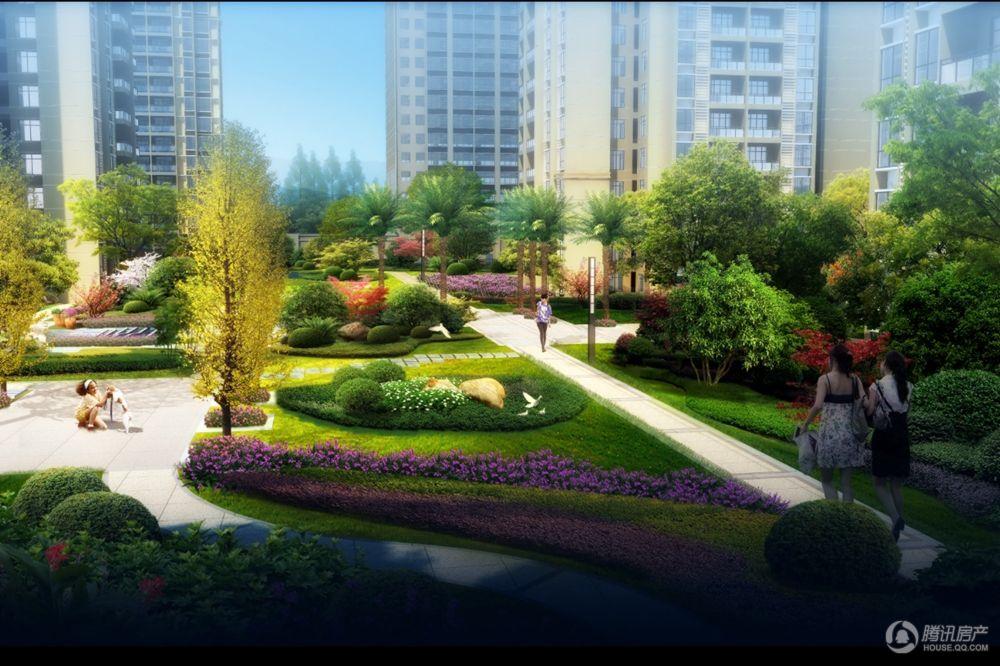 倾城里社区中庭景观效果图