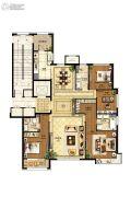 国赫天著小区4室2厅3卫188平方米户型图