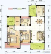 春风紫金港2室2厅2卫105平方米户型图