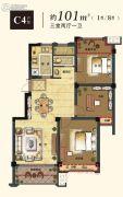 锦绣江南3室2厅1卫0平方米户型图