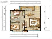 名品建筑2室2厅1卫85平方米户型图