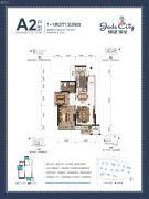 骋望�B玺2室2厅1卫62--65平方米户型图