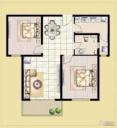 中汉财富湾2室2厅2卫95平方米户型图