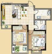 书香河畔2室2厅1卫0平方米户型图