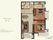 K2京西狮子城2室2厅1卫78平方米户型图