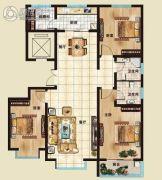 海山广场2室2厅2卫129平方米户型图