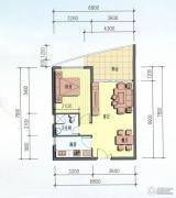 海岸国际假日花园1室2厅1卫70平方米户型图
