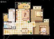 亲亲里2室2厅1卫72平方米户型图