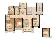 嘉盛维纳阳光4室2厅1卫141平方米户型图