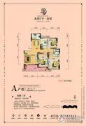 龙湾1号公馆3室2厅2卫123--129平方米户型图