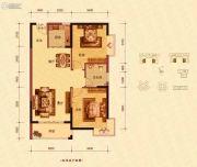 蓝海名都2室2厅1卫89--91平方米户型图