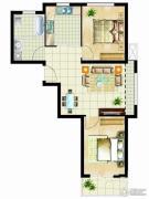 金桥澎湖山庄2室2厅1卫78平方米户型图
