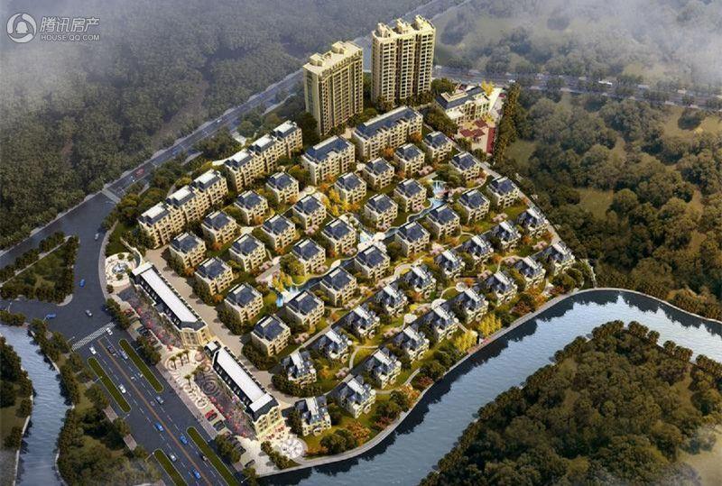 龙溪首府东南向鸟瞰图