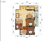 新时代广场3室2厅2卫137平方米户型图