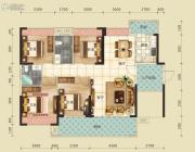 云峰花园4室2厅2卫0平方米户型图