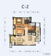 福星惠誉东湖城3室2厅2卫0平方米户型图