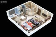 满堂悦MOMΛ1室1厅1卫45平方米户型图