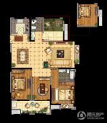 昆山万达广场3室2厅2卫140平方米户型图