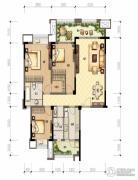 财信沙滨城市3室2厅2卫104平方米户型图