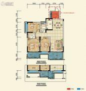 置信凯旋国际3室2厅2卫101--107平方米户型图