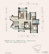 建曙高尔夫1号3室2厅2卫107平方米户型图