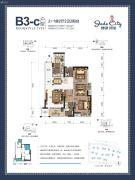 骋望�B玺3室2厅2卫82--85平方米户型图