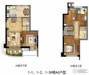 保利叁仟栋・壹海里4室2厅2卫0平方米户型图