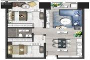 置地东方广场2室2厅1卫129平方米户型图