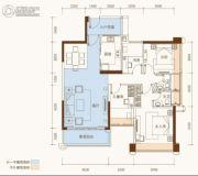 恒基五洲家园4室2厅2卫102平方米户型图