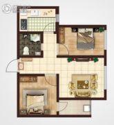 御笔城市广场2室2厅1卫60平方米户型图