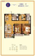 鲁商・金悦城3室2厅1卫93平方米户型图