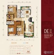华府・伊顿庄园4室2厅2卫154--168平方米户型图