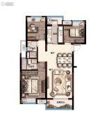奥园・学府里3室2厅2卫101平方米户型图
