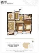 世茂石湖湾2室2厅1卫97平方米户型图