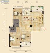 香岸华府二期3室2厅2卫129平方米户型图