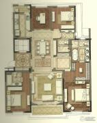 国宾1号4室3厅4卫295平方米户型图