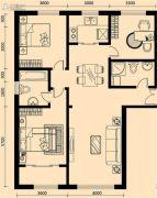 加莱印象3室2厅2卫143平方米户型图